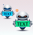 Robot and banner vector image vector image
