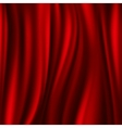 Red silk satin flowing textile wavy abstact vector image