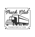 Sqaure Plate With Nails Heavy Trucks Company Club vector image