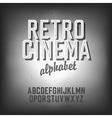 retro cinema font vector image vector image