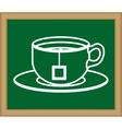 Delicious tea cup vector image
