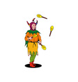 Jester Juggling vector image