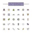 Colored Internet Line Icons vector image vector image