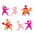 couple dance set of icons vector image vector image
