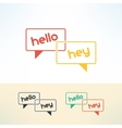 bubbles dialogue in modern flat design vector image