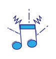 full color musical note sign to rhythm sound vector image