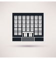 Institute university Icon in the flat style vector image