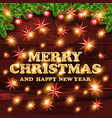 merry christmas and happy holidays red star vector image