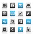 School Education Icons Matte Series vector image