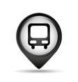 symbol bus icon pin vector image