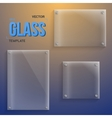 Transparent Glass Set of Realistic vector image