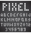White Pixel Font vector image
