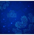 Blue abstract flower background vector image