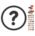 question icon with love bonus vector image