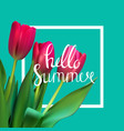 hello summer natural background vector image