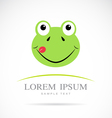 Frog head vector image