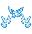 flying dove vector image vector image