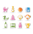 simple child and baby online shop icons vector image