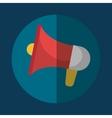 Bullhorn megaphone icon graphic vector image