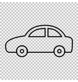 Car line icon vector image