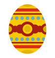 beautiful easter egg icon isolated vector image