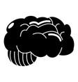 brain icon simple style vector image