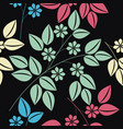 endless pattern with colorful floral bouquet vector image