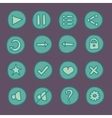 Flat game Ui buttons set in doodle style vector image