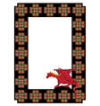 frame with dragon vector image