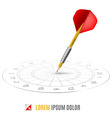 Hit the target vector image