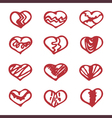 Love set unique hand drawn icons romantic vector image