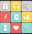 Modern flat icons vector image