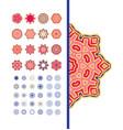 rich pattern set vector image