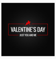 valentines day logo border background vector image