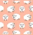 baby sheep girlish cute seamless pattern vector image