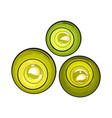 top view set of round candles spa salon vector image