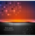 Colorful abstract tech background vector image