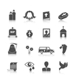 Funeral icons set vector image