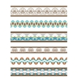 Beautiful Colored Seamless Borders vector image vector image