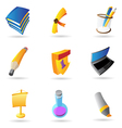 Icons for education vector image vector image