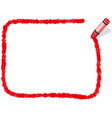 a red crayon message frame vector image