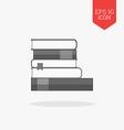 Books icon Flat design gray color symbol Modern UI vector image