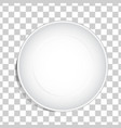 empty white dish plate background vector image