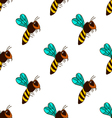 seamless pattern with bee - 3 vector image