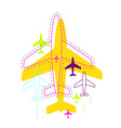 with airplanes vector image