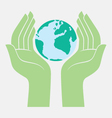 save the earth protected by hands vector image