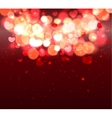 Glow Soft Hearts Valentines Day Background vector image