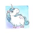 Cartoon magic unicorn vector image