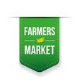 Farmers Market green ribbon vector image