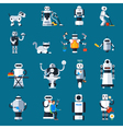 Home Robots Collection vector image